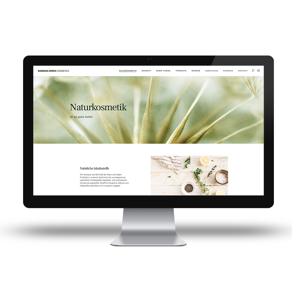 Calcanto Werbeagentur Referenz Barbara Green Webseite