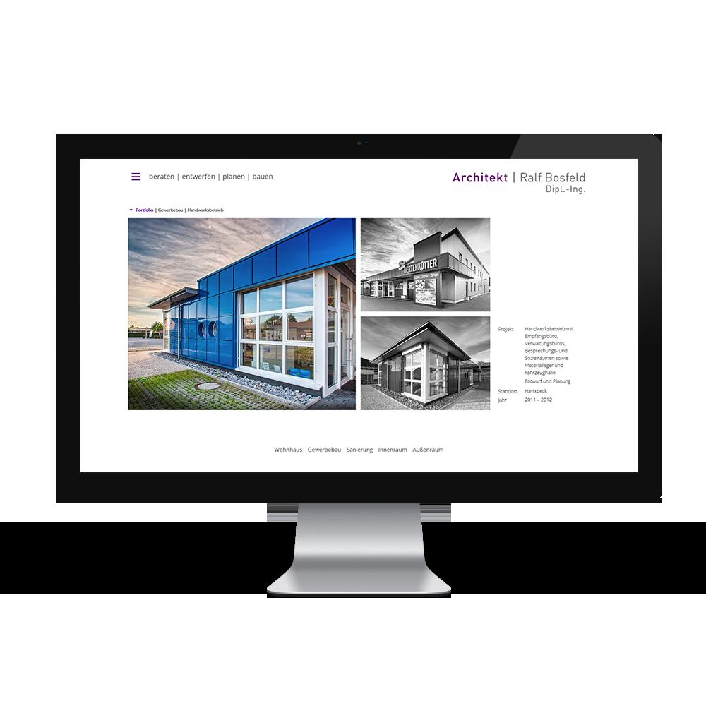 Calcanto Werbeagentur Referenz Architekt Bosfeld Webseite