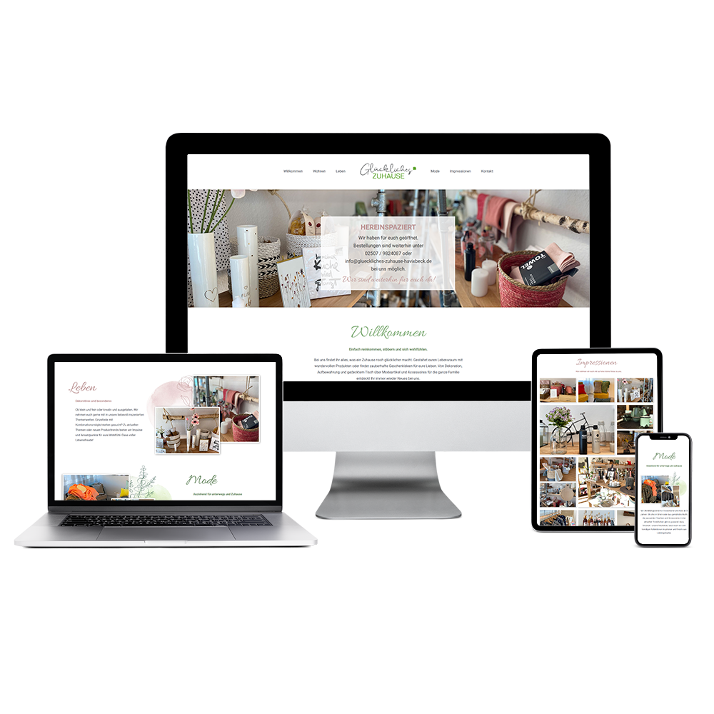 Calcanto Werbeagentur Referenz Glückliches Zuhause Webseite